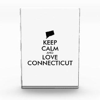 Customizable KEEP CALM and LOVE CONNECTICUT Award