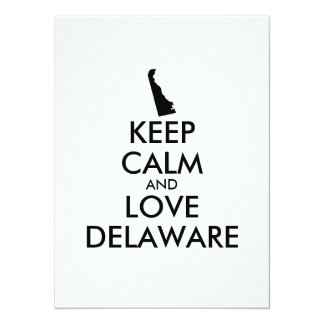 Customizable KEEP CALM and LOVE DELAWARE Card