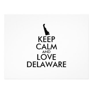 Customizable KEEP CALM and LOVE DELAWARE Flyer