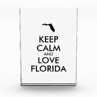 Customizable KEEP CALM and LOVE FLORIDA Award