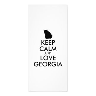 Customizable KEEP CALM and LOVE GEORGIA Rack Card