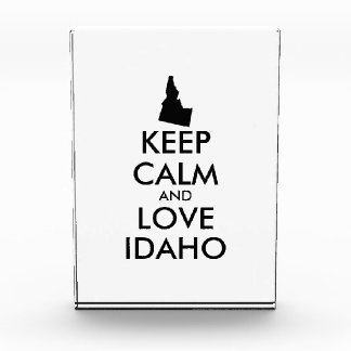 Customizable KEEP CALM and LOVE IDAHO Awards