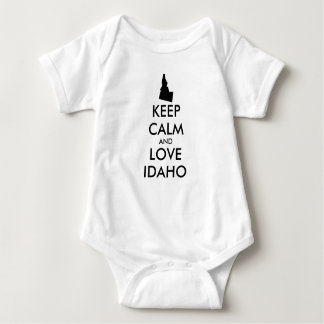 Customizable KEEP CALM and LOVE IDAHO Baby Bodysuit