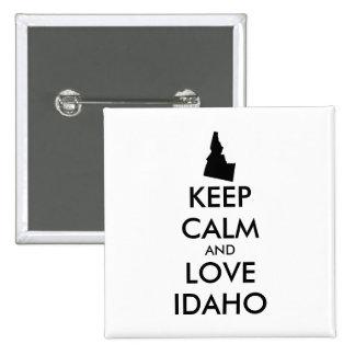 Customizable KEEP CALM and LOVE IDAHO Button