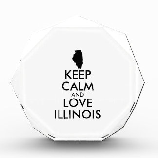 Customizable KEEP CALM and LOVE ILLINOIS Awards