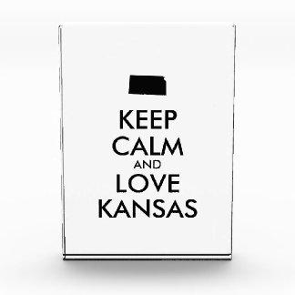 Customizable KEEP CALM and LOVE KANSAS Award