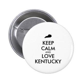 Customizable KEEP CALM and LOVE KENTUCKY Button