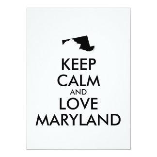 Customizable KEEP CALM and LOVE MARYLAND Card
