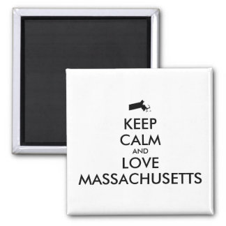 Customizable KEEP CALM and LOVE MASSACHUSETTS Magnet