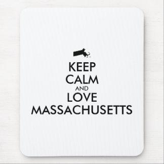 Customizable KEEP CALM and LOVE MASSACHUSETTS Mouse Pad