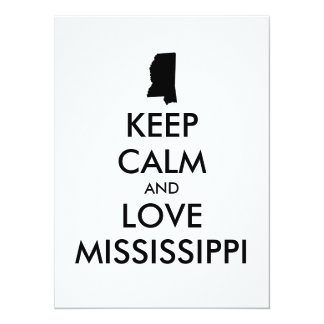 Customizable KEEP CALM and LOVE MISSISSIPPI Card
