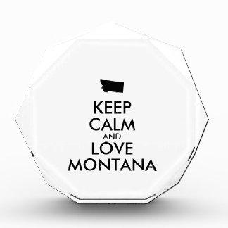 Customizable KEEP CALM and LOVE MONTANA Award