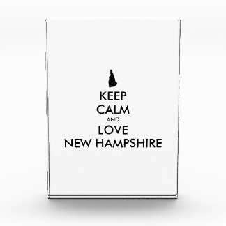 Customizable KEEP CALM and LOVE NEW HAMPSHIRE Award