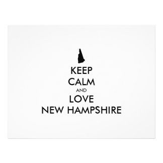 Customizable KEEP CALM and LOVE NEW HAMPSHIRE Flyer