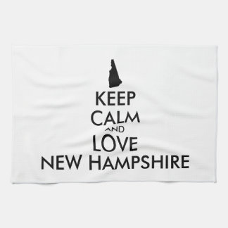 Customizable KEEP CALM and LOVE NEW HAMPSHIRE Kitchen Towel