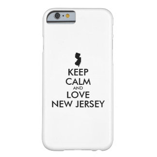 Customizable KEEP CALM and LOVE NEW JERSEY Barely There iPhone 6 Case