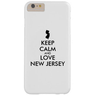 Customizable KEEP CALM and LOVE NEW JERSEY Barely There iPhone 6 Plus Case
