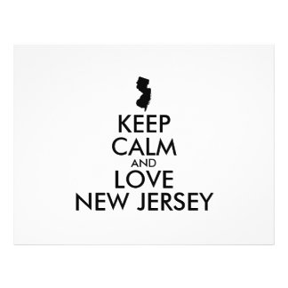Customizable KEEP CALM and LOVE NEW JERSEY Flyer