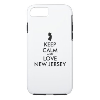 Customizable KEEP CALM and LOVE NEW JERSEY iPhone 8/7 Case