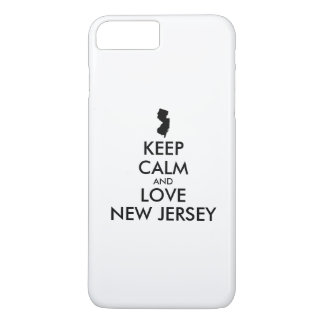 Customizable KEEP CALM and LOVE NEW JERSEY iPhone 8 Plus/7 Plus Case