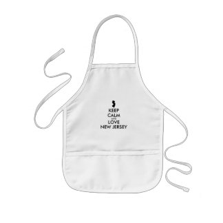 Customizable KEEP CALM and LOVE NEW JERSEY Kids' Apron
