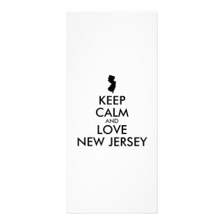 Customizable KEEP CALM and LOVE NEW JERSEY Rack Card