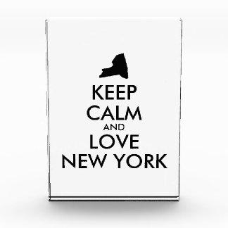 Customizable KEEP CALM and LOVE NEW YORK Acrylic Award