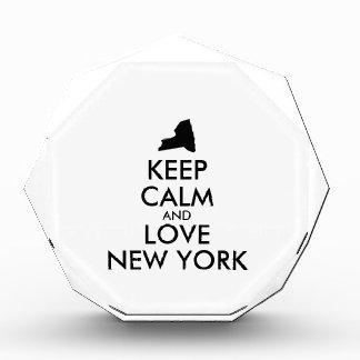 Customizable KEEP CALM and LOVE NEW YORK Awards