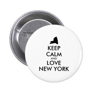Customizable KEEP CALM and LOVE NEW YORK Button