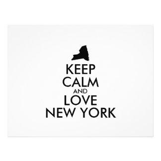 Customizable KEEP CALM and LOVE NEW YORK Flyer