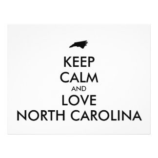 Customizable KEEP CALM and LOVE NORTH CAROLINA Flyer