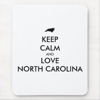 Customizable KEEP CALM and LOVE NORTH CAROLINA Mouse Pad