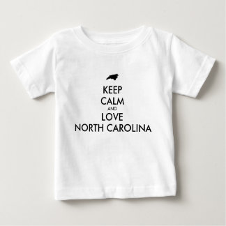 Customizable KEEP CALM and LOVE NORTH CAROLINA T Shirt