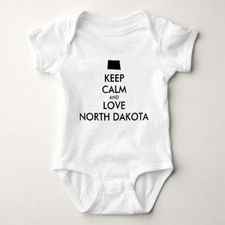 Customizable KEEP CALM and LOVE NORTH DAKOTA Shirt