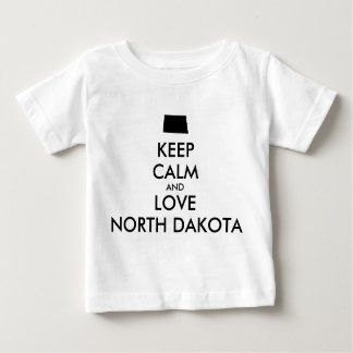 Customizable KEEP CALM and LOVE NORTH DAKOTA Tee Shirt