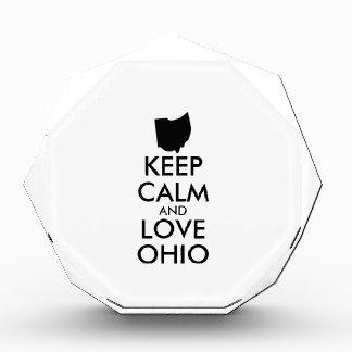 Customizable KEEP CALM and LOVE OHIO Award
