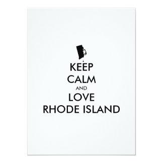 Customizable KEEP CALM and LOVE RHODE ISLAND Card