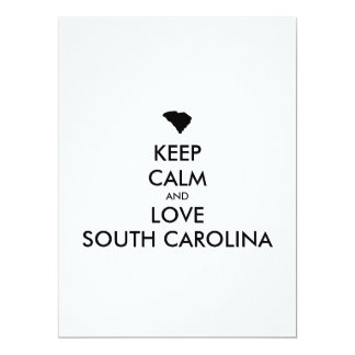 Customizable KEEP CALM and LOVE SOUTH CAROLINA Card