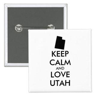 Customizable KEEP CALM and LOVE UTAH Button