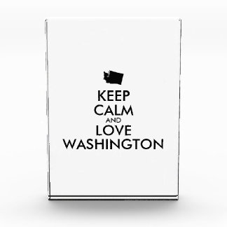 Customizable KEEP CALM and LOVE WASHINGTON Award