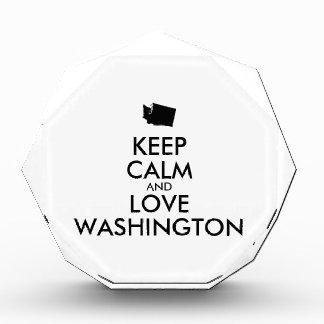 Customizable KEEP CALM and LOVE WASHINGTON Awards
