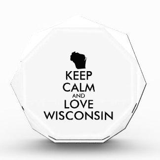 Customizable KEEP CALM and LOVE WISCONSIN Awards