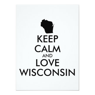Customizable KEEP CALM and LOVE WISCONSIN Card