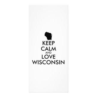 Customizable KEEP CALM and LOVE WISCONSIN Rack Card