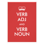 Customizable Keep Calm Invitation Style Cards