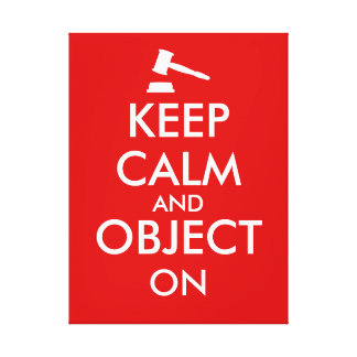 Customizable Keep Calm Lawyer Gift Object On Gavel Canvas Print
