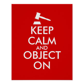 Customizable Keep Calm Lawyer Gift Object On Gavel Poster