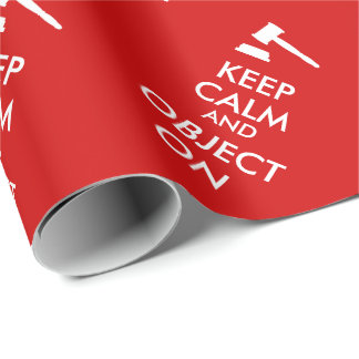 Customizable Keep Calm Lawyer Gift Object On Gavel Wrapping Paper