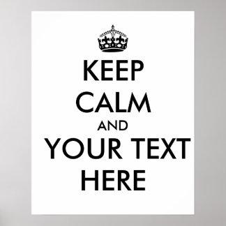 Make Keep Calm Posters   Zazzle