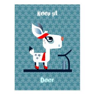 Customizable: Keep fit, deer Postcard